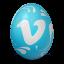 иконки vimeo, яйцо,
