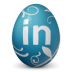 иконки linkedin, яйцо,