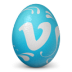 иконка vimeo, яйцо,