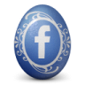 иконки facebook, яйцо,