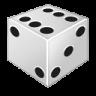 иконки dice, игровой кубик, игровая кость,