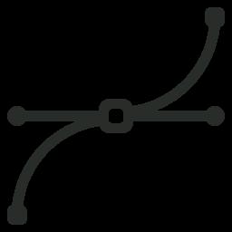 иконка vector, кривые,