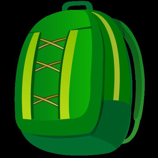 иконка рюкзак, портфель, походная сумка, backpack,