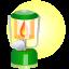 иконка лампа, свет, керосиновая лампа, lamp,