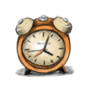 иконки будильник, часы, время,