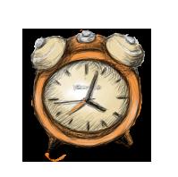 иконка будильник, часы, время,