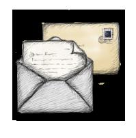 иконки письмо, конверт, почта,