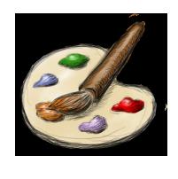 иконка палитра, palette, краски, кисточка,