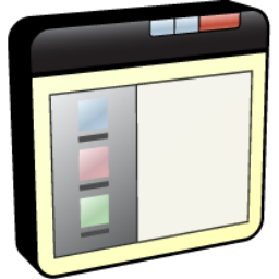 иконка левая панель, окно, window left panel,