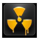 иконка радиация, atomic,