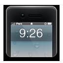 иконки iphone, время, часы,