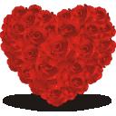 иконки сердце, роза, розы, цветы, heart of roses,