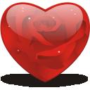 иконки сердце, роза, rosy, heart,