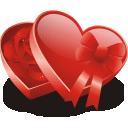 иконки сердце, конфеты, подарок,