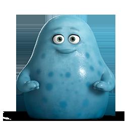 иконки  корпорация монстров, монстр, cute blue,