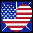 иконка сша, usa, америка, сердце,