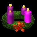 иконка Свечи, свеча, венок, advent wreath,