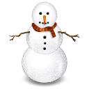 иконка Снеговик, snowman,