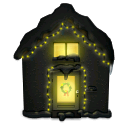 иконка Дом, snowy house, новый год,