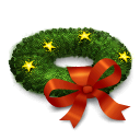 иконка wreath, венок, новый год,
