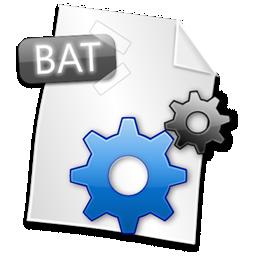 иконки bat, файл, формат, file,