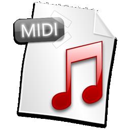 иконка midi, файл, формат, file,