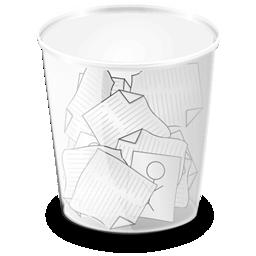 иконка полная корзина, мусор, trash full,