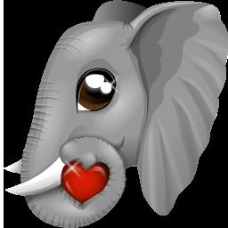 иконка слон, животное, животные, animal, elefant,