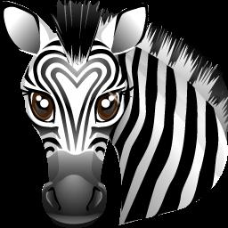 иконка зебра, животное, животные, animal,