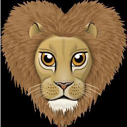 иконка лев, животное, животные, animal,