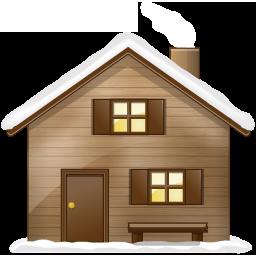 иконка дом, снег, home,