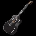 иконки гитара, black, guitar,