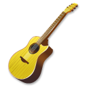 иконки  гитара, yellow, guitar,