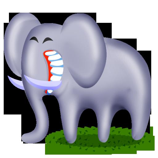 иконки слон, животное, животные, animal, elephant,
