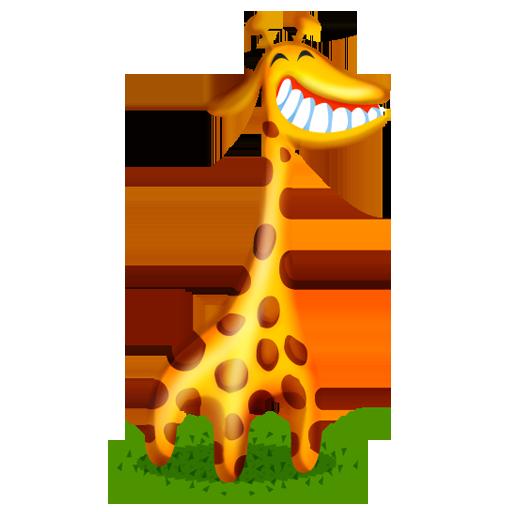 иконки жираф, животное, животные, animal, giraffe,