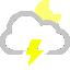 иконки молния, гроза, cloud lightning moon,