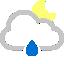 иконки  дождь, погода, cloud raindrop moon,