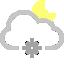 иконки погода, луна, снег, ночь, cloud snowflake moon,