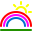 иконки радуга, rainbow,