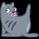иконки кот, кошка, вылизываться, животное, cat, clean,