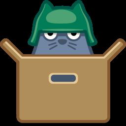 иконки кот, кошка, коробка, животное, cat, box,