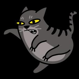 иконка кот, кошка, животное, cat, fight,