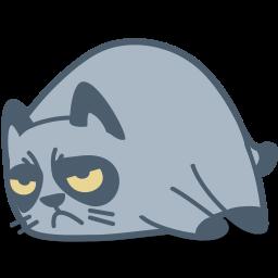 иконка кот, кошка, животное, сонный, спать, сон, cat, grumpy,