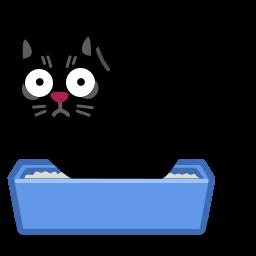 иконка кот, кошка, туалет, животное, лоток, cat, poo,