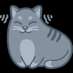 иконка кот, кошка, мурчать, мурлыкает, животное, cat, purr,