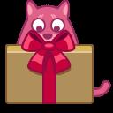 иконка кот, кошка, подарок, животное, cat, gift,