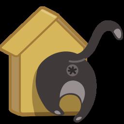 иконки кот, кошка, скворечник, cat, birdhouse,