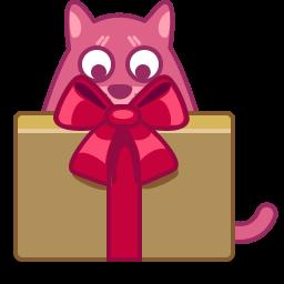 иконки кот, кошка, подарок, животное, cat, gift,