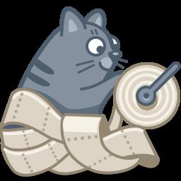 иконки кот, кошка, туалетная бумага, животное, cat, paper,