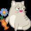 иконка кот, кошка, животное, ваза, хулиган, cat, rascal,